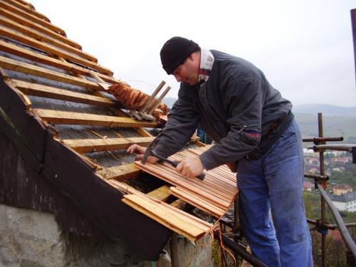 Oprava střech věží 21.- 24.10.2009