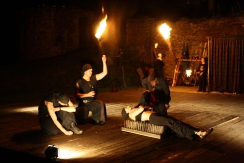 Hrad Brumov v plamenech 25.6.2011
